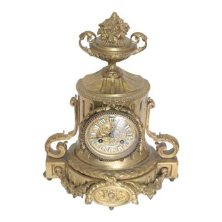 Tiffany & Co. 19th Century Bronze Mantel Clock For Sale