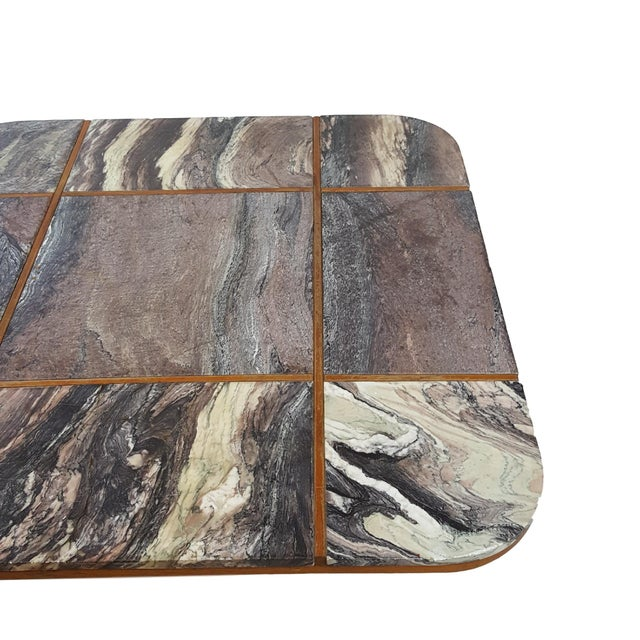 Bendixen Danish Modern Marble Top Coffee Table - Image 3 of 7