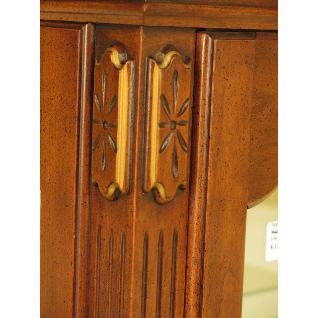 Louis XVI-Style Walnut Vitrine Curio Cabinet - Image 6 of 11