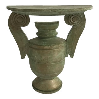 Carved Wood Urn-Style Bracket