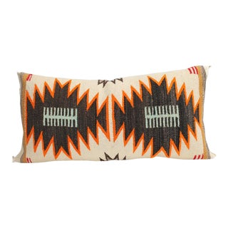 Double Eye Dazzler Navajo Indian Weaving Bolster Pillow For Sale