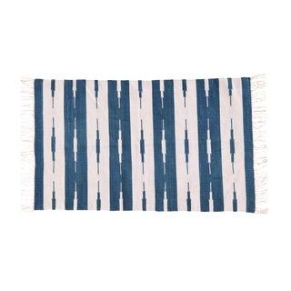Hyacinth Rug, 10x14, Royal Blue & White For Sale