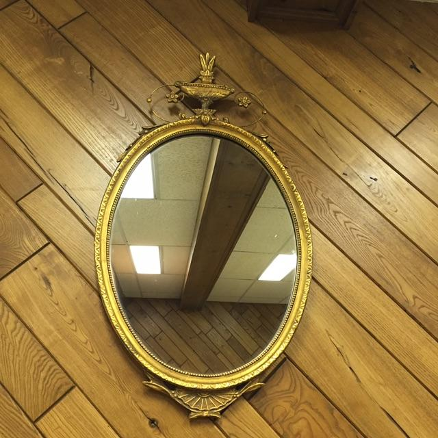 Oval French Carved Gilt Mirror - Image 2 of 6