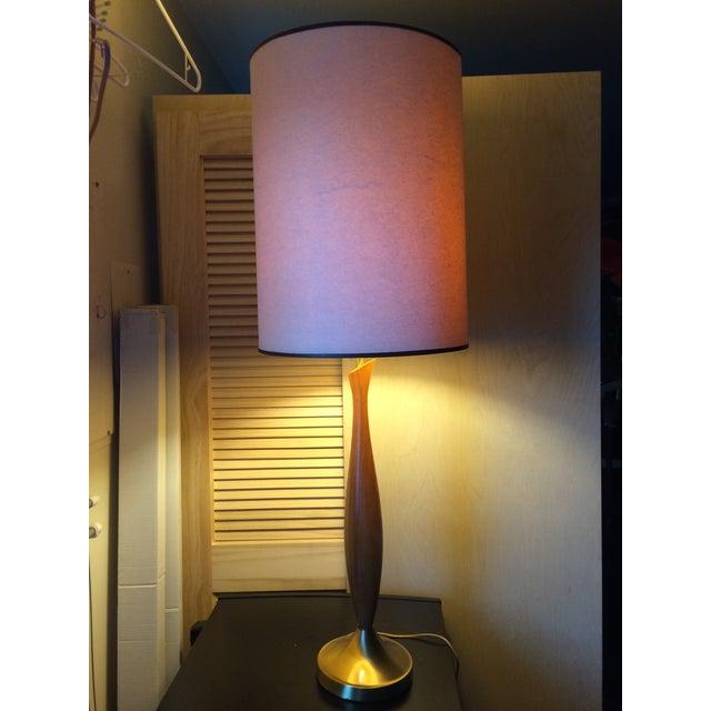 Mid-Century Walnut Table Lamp - Image 3 of 6