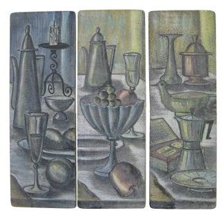 Italian Ceramic Plaques - Set of 3 For Sale
