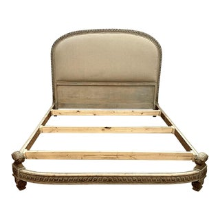 19th Century French Louis XVI Queen Painted Bed For Sale