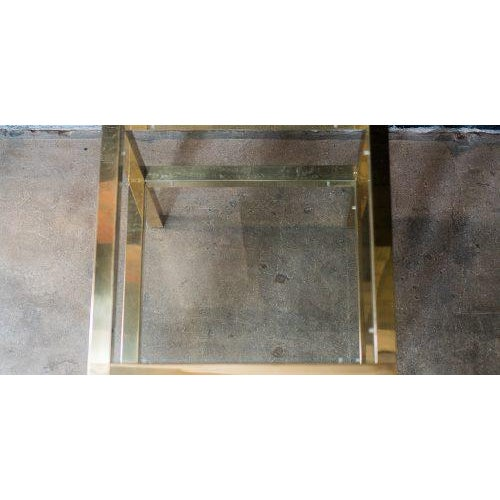 Mastercraft Two Tiered Brass Side Table For Sale - Image 5 of 8