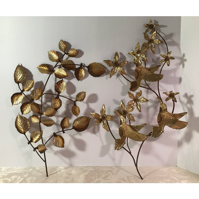 Mid-Century Modern Mid-Century Metal Leaf Wall Art - A Pair For Sale - Image 3 of 9