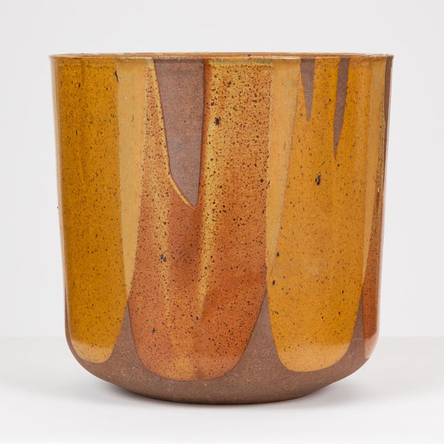 Malcolm Leland Lt-24 Flame-Glazed Planter for Architectural Pottery For Sale - Image 10 of 10