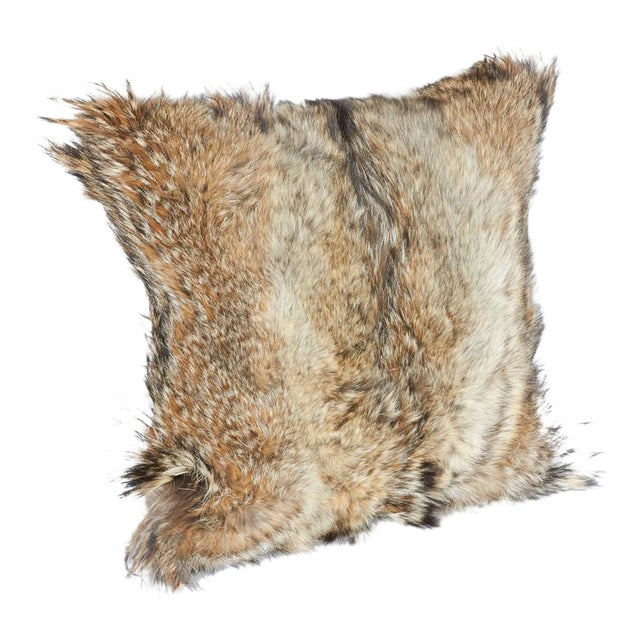 Luxury Coyote Fur Throw Pillows For Sale