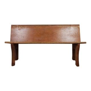 1910s Primitive Pine Bench For Sale