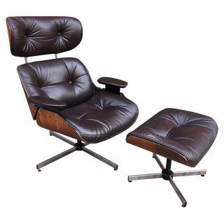 Plycraft Selig Lounge Chair and Ottoman For Sale