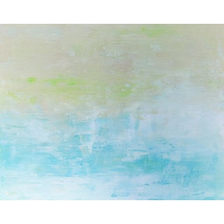 Abstract Coastal Original Water Calm Beach Art Painting For Sale