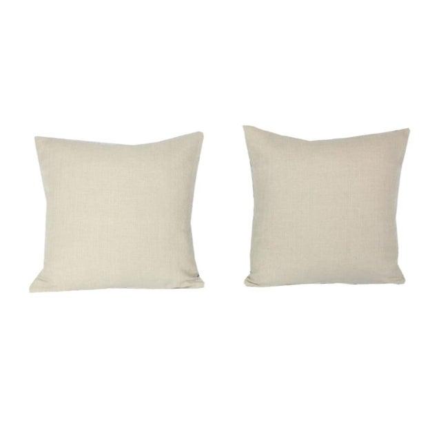 2020s Peter Dunham Ikat Pillow Pair For Sale - Image 5 of 7