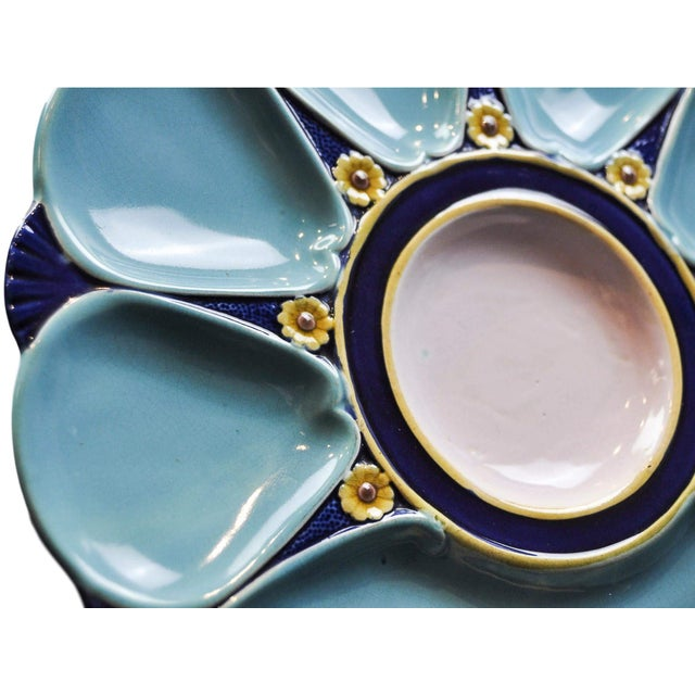 Ceramic Minton Majolica Oyster Plate For Sale - Image 7 of 11