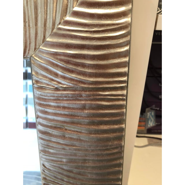 Transitional Style Silver Leaf Wall Mirror For Sale - Image 4 of 8