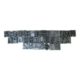 Metal Letter Collection - Set of 33