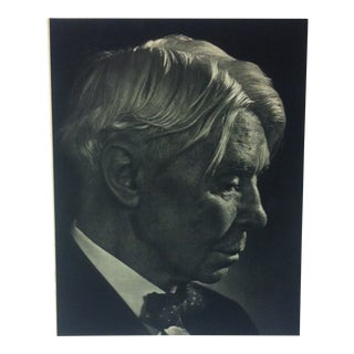 "Black & White Print on Paper, ""Carl Sandburg"" by Yousuf Karsh, 1967 For Sale"
