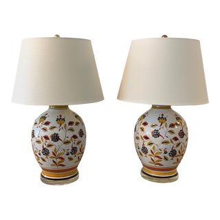 1950s Portuguese Style Jar Lamps - a Pair For Sale