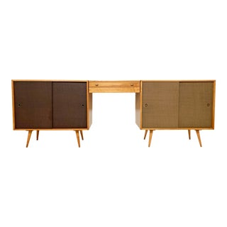 C. 1950s Paul McCobb Planner Group Cabinets With Hanging Vanity - a Pair For Sale