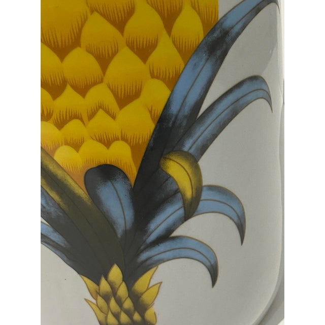 Vintage Fornasetti Style Umbrella Stand With Double Pineapple Motif For Sale - Image 11 of 12