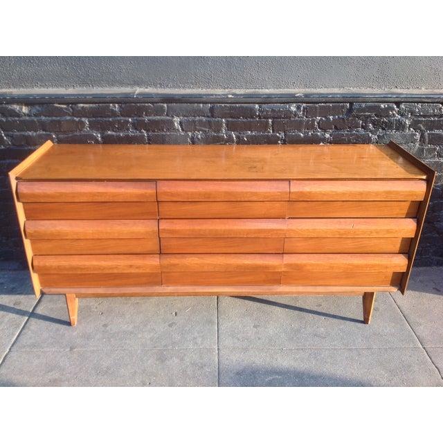 Mid Century Walnut Lane Furniture Dresser - Image 2 of 8