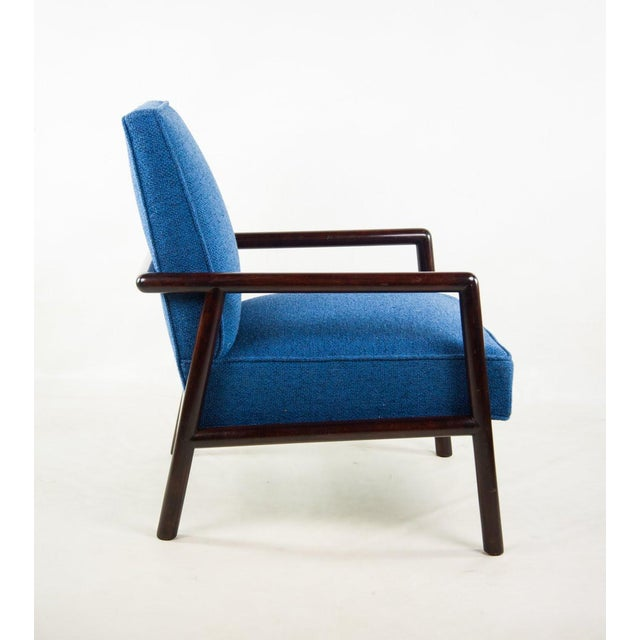 Mid-Century Modern Jens Risom for Knoll Mid-Century Modern Blue Lounge Chair For Sale - Image 3 of 13