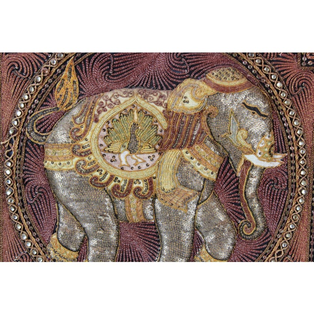 Pasargad DC Hand Made India Beaded Elephant Raised Wall Art - A Pair For Sale - Image 9 of 11