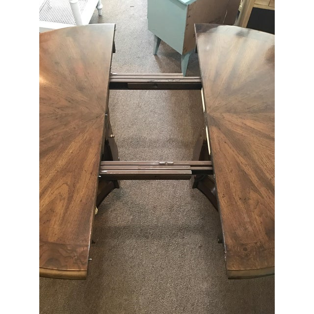 Henredon Henredon Star Burst Dining Table Set and Two Leaves For Sale - Image 4 of 7