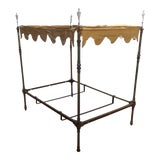 Image of Four Poster Brass Canopy Bed For Sale