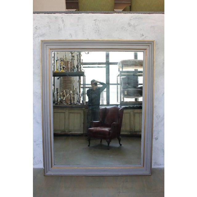 Very Large French 19th C. Mirror in a Carved Wood Frame - Image 8 of 11