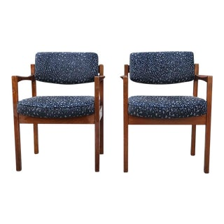 1960s Vintage Danish Modern Chairs- A Pair For Sale