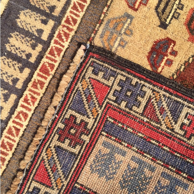 "Vintage Baluchi Persian Rug - 2'11"" x 3'10"" - Image 10 of 10"