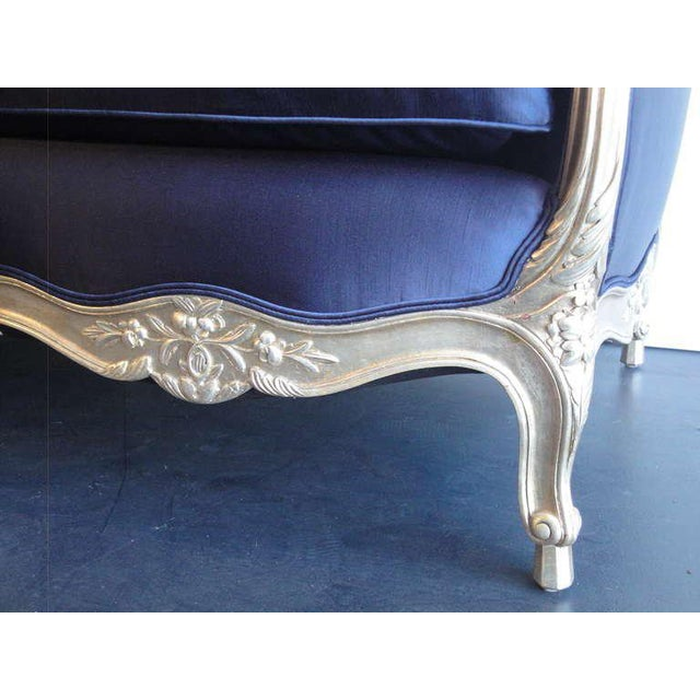 1930s Vintage French Silver Leaf Canape For Sale In Los Angeles - Image 6 of 9