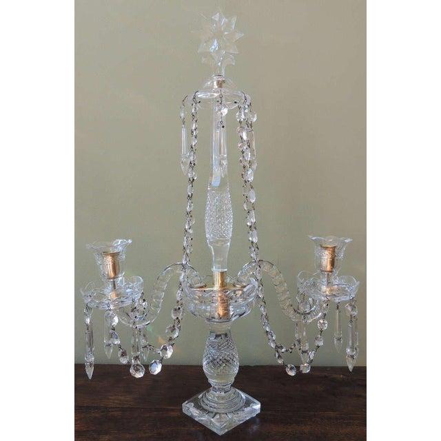 English Traditional Mid 19th C Anglo-Irish Crystal Girandoles For Sale - Image 3 of 8