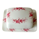 Image of 1980s Annabell Porcelain Butter Dish For Sale
