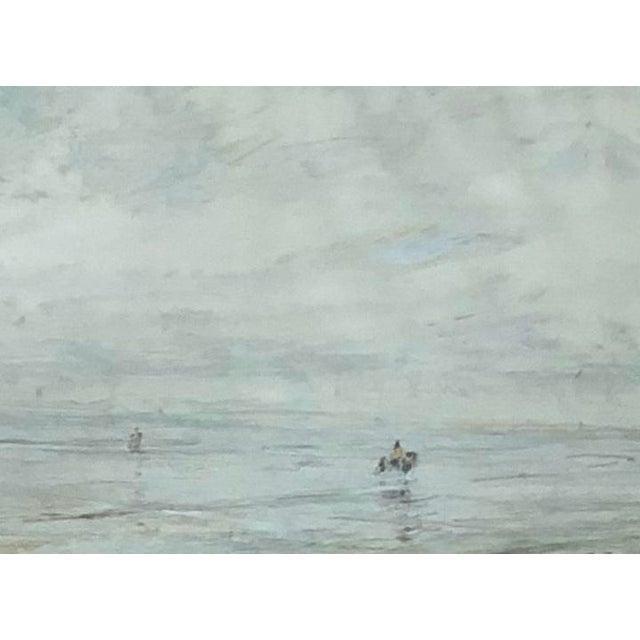 Early 20th Century Edwardian Style Fishermen Scene Oil Painting by Julius Seyler, Framed For Sale - Image 4 of 8