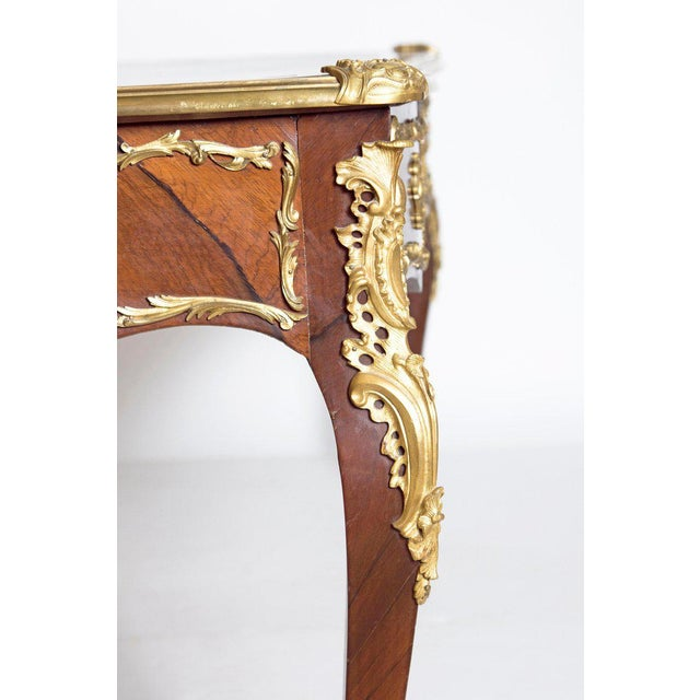 Louis XV Late 19th Century Louis XV Style Rosewood and Ormolu Bureau Plat For Sale - Image 3 of 13