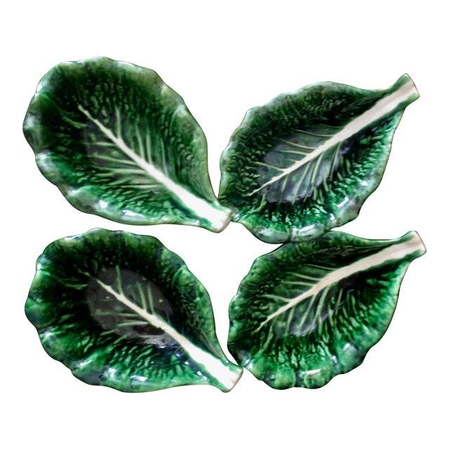 Vintage Cabbage Leaf Bowls From Portugal - Set of 4 For Sale