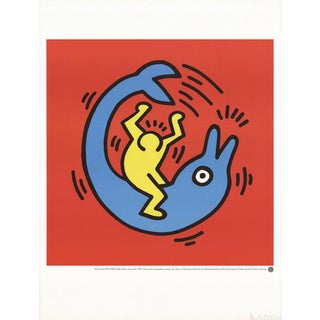 "Keith Haring ""Dolphin Button"" Poster For Sale"