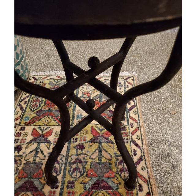 Moroccan White Mosaic Side Table For Sale In Orlando - Image 6 of 7