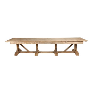 Belgian Oak Convent Table For Sale