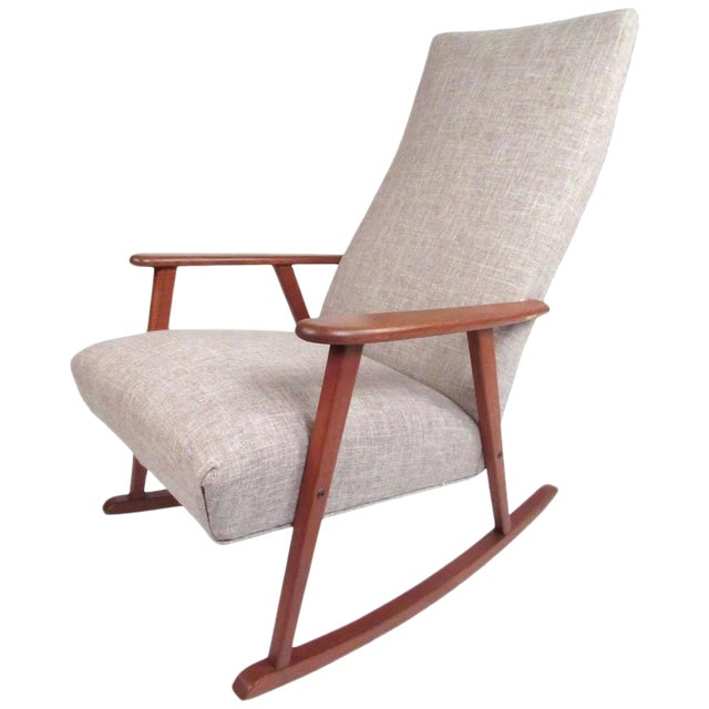 Marvelous Mid Century Modern Danish Teak Rocking Chair Creativecarmelina Interior Chair Design Creativecarmelinacom