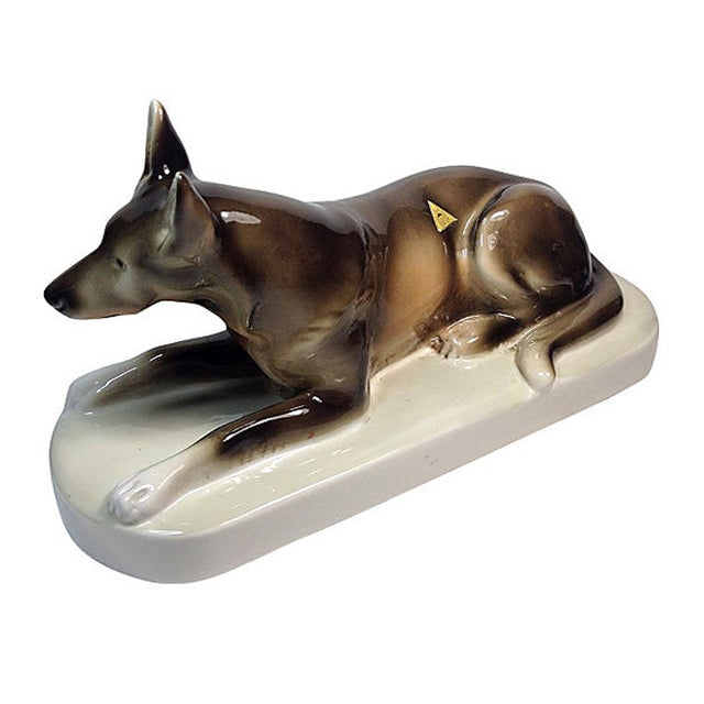 Royal Dux Porcelain German Shepherd - Image 1 of 5