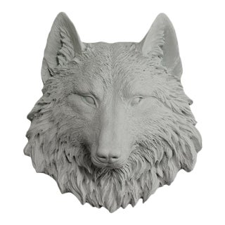Wall Charmers Faux Taxidermy Mini Gray Wolf For Sale