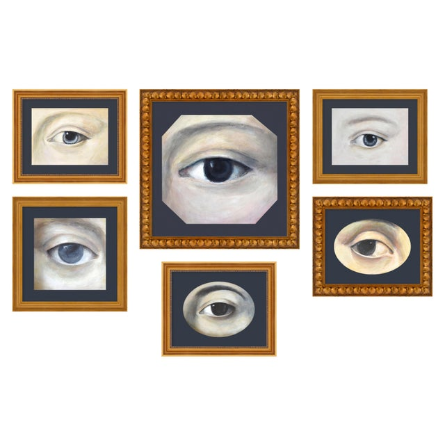 """Contemporary Medium """"Lover's Eye Set of 6"""" Print by Susannah Carson For Sale - Image 3 of 3"""