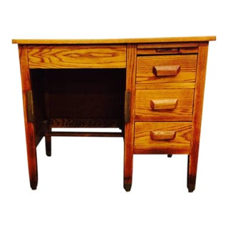 "Vintage ""Knee Hole "" Oak Desk"