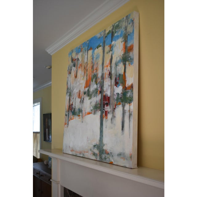 """Modern """"Hunters in the Snow"""" Abstract Painting by Stephen Remick For Sale - Image 9 of 13"""