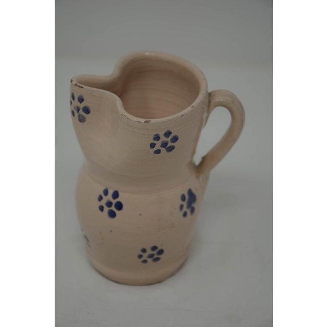 Italian Vintage Puglia Apulia Italy Ceramic Pitcher For Sale - Image 3 of 6