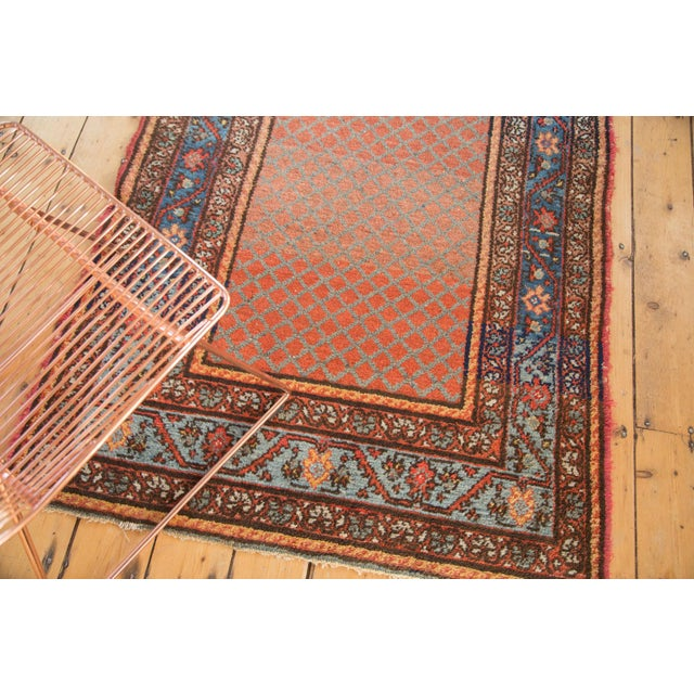 "Vintage Hamadan Rug Runner - 3'7"" x 6'10"" For Sale - Image 4 of 10"